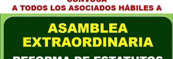 Asamblea Extraordinaria Reforma de Estatutos